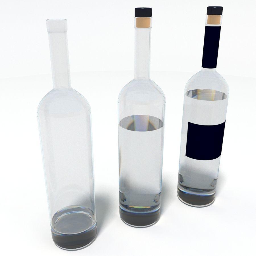 Flaska alkohol royalty-free 3d model - Preview no. 1