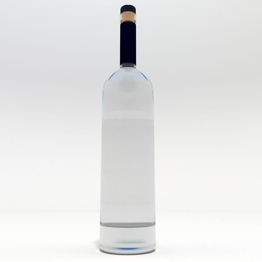 Flaska alkohol royalty-free 3d model - Preview no. 5