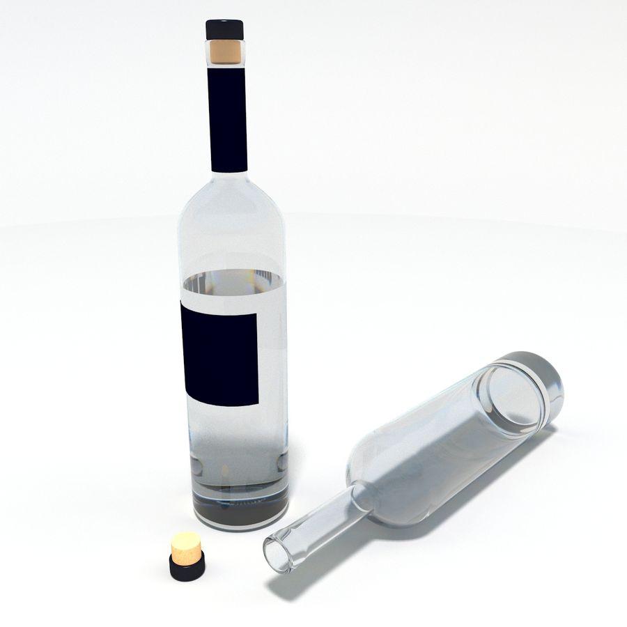 Flaska alkohol royalty-free 3d model - Preview no. 2