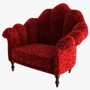 丝绒扶手椅 3d model