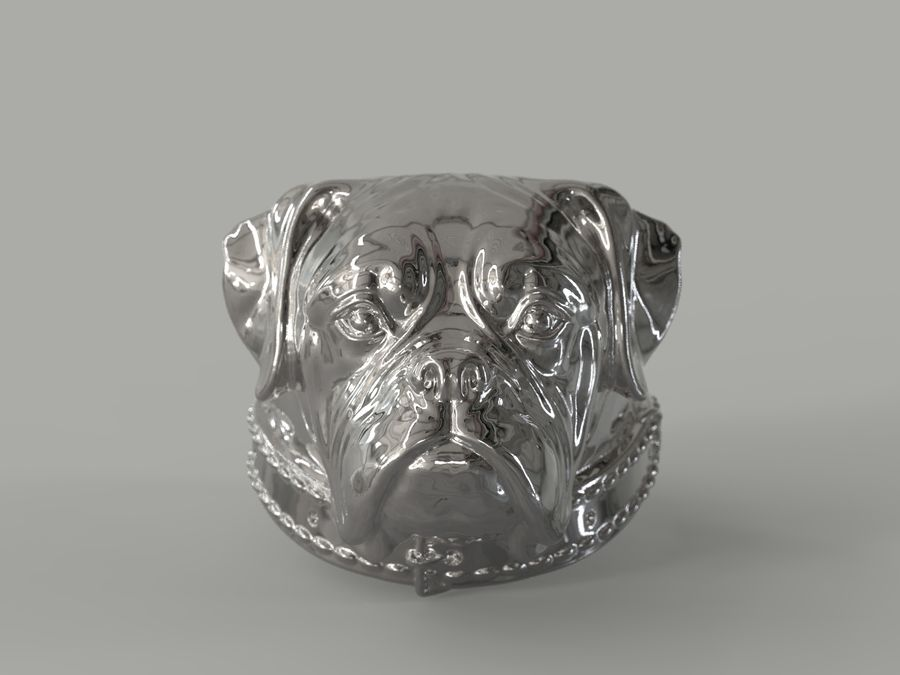 Ring Dog head royalty-free 3d model - Preview no. 2