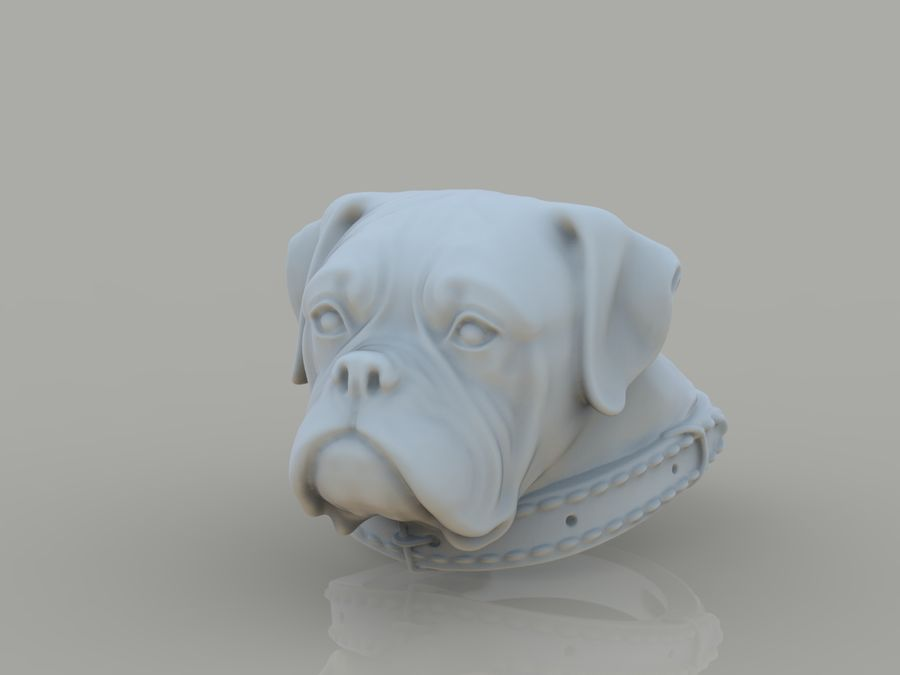 Ring Dog head royalty-free 3d model - Preview no. 1