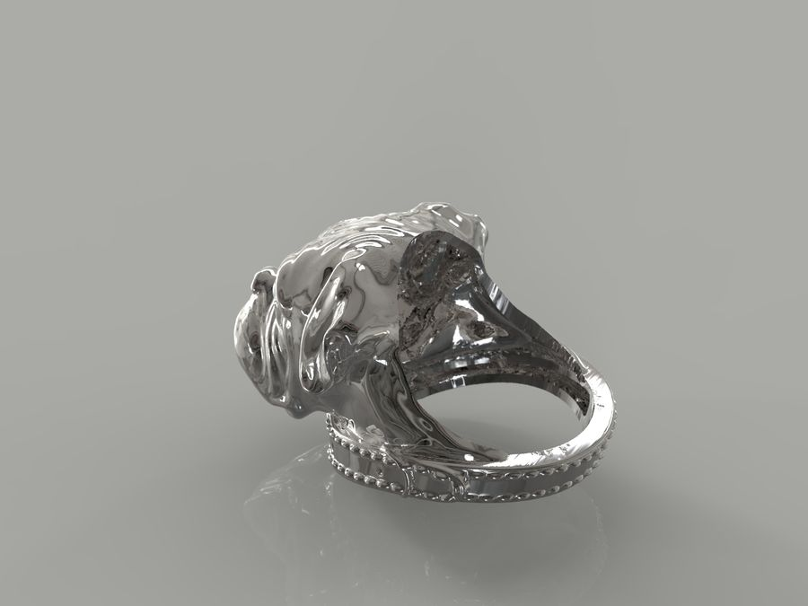 Ring Dog head royalty-free 3d model - Preview no. 5