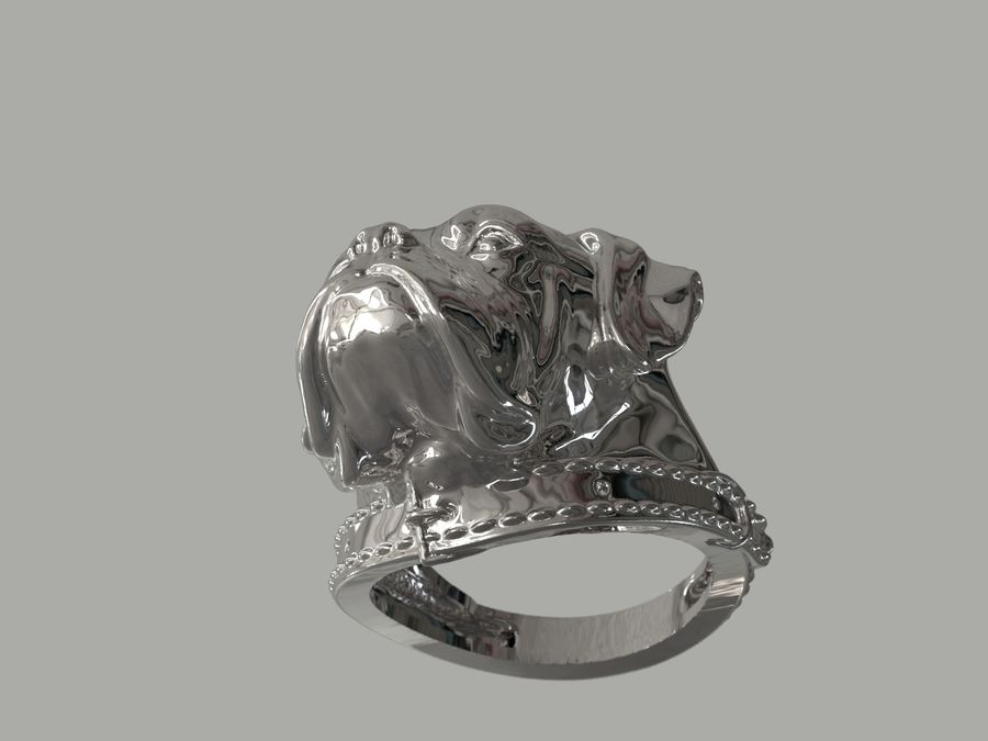 Ring Dog head royalty-free 3d model - Preview no. 6