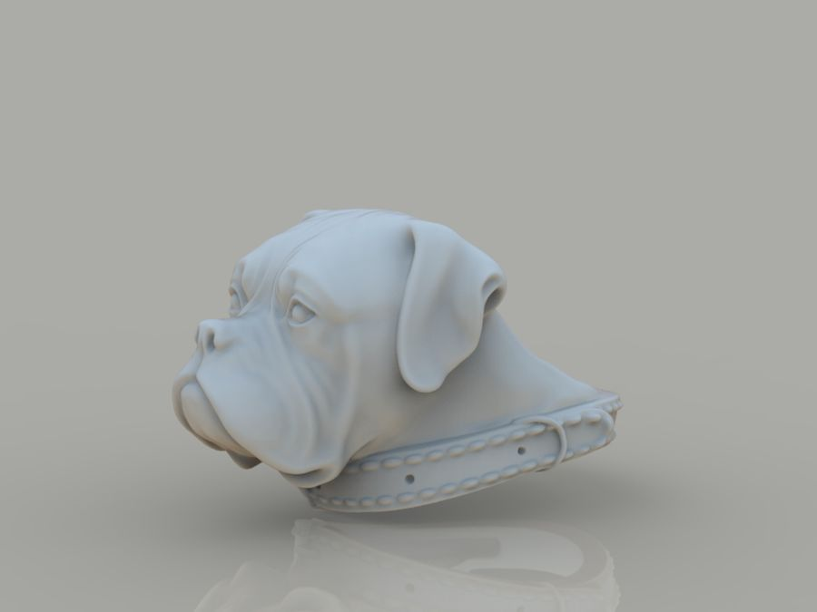 Ring Dog head royalty-free 3d model - Preview no. 10