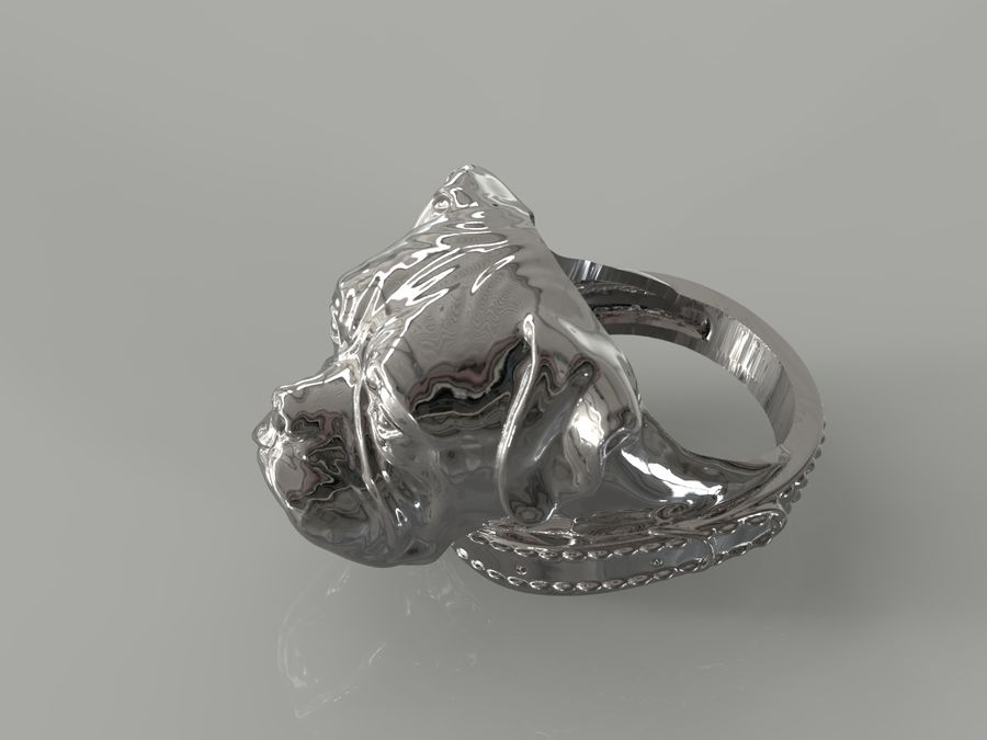 Ring Dog head royalty-free 3d model - Preview no. 4