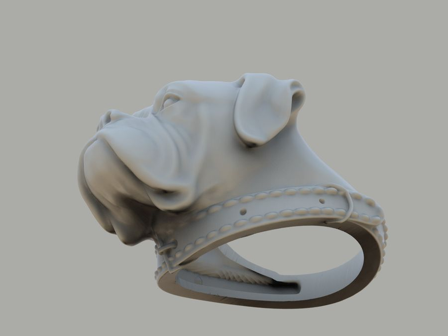 Ring Dog head royalty-free 3d model - Preview no. 11