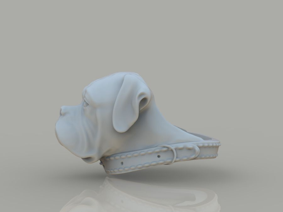 Ring Dog head royalty-free 3d model - Preview no. 9