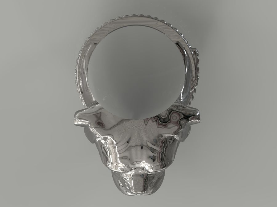 Ring Dog head royalty-free 3d model - Preview no. 7