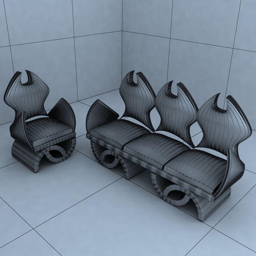 sillón 1 royalty-free modelo 3d - Preview no. 5