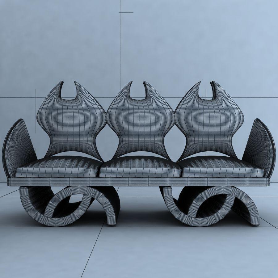 sillón 1 royalty-free modelo 3d - Preview no. 7