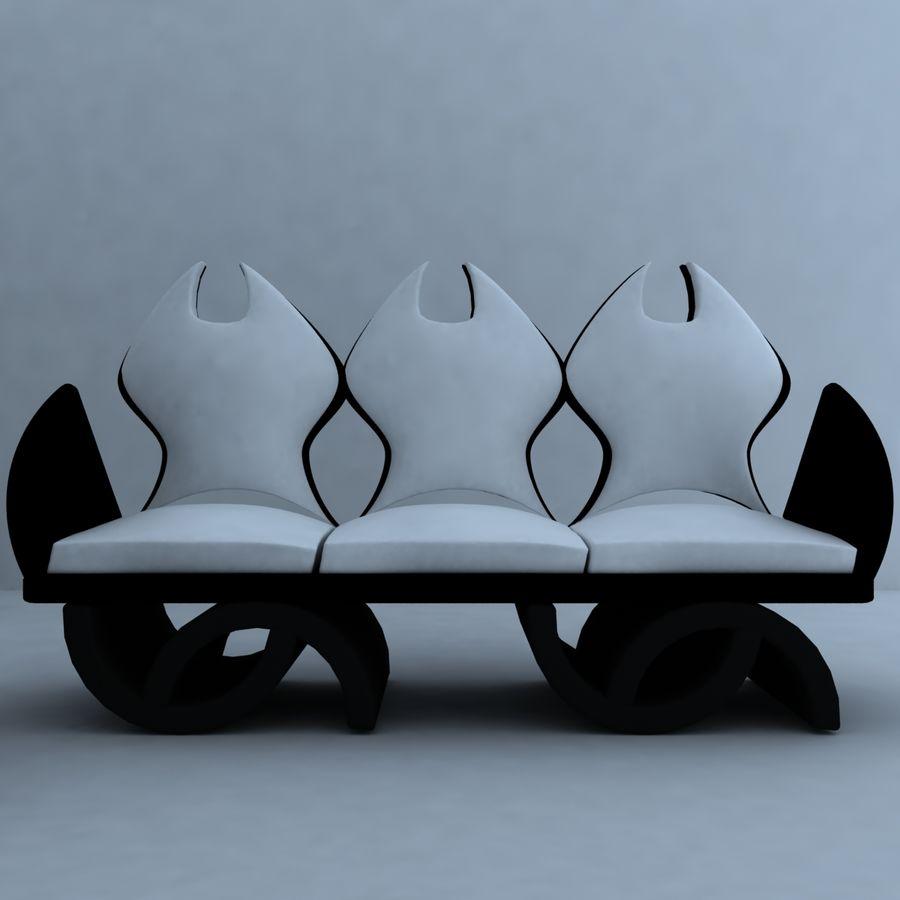 sillón 1 royalty-free modelo 3d - Preview no. 3
