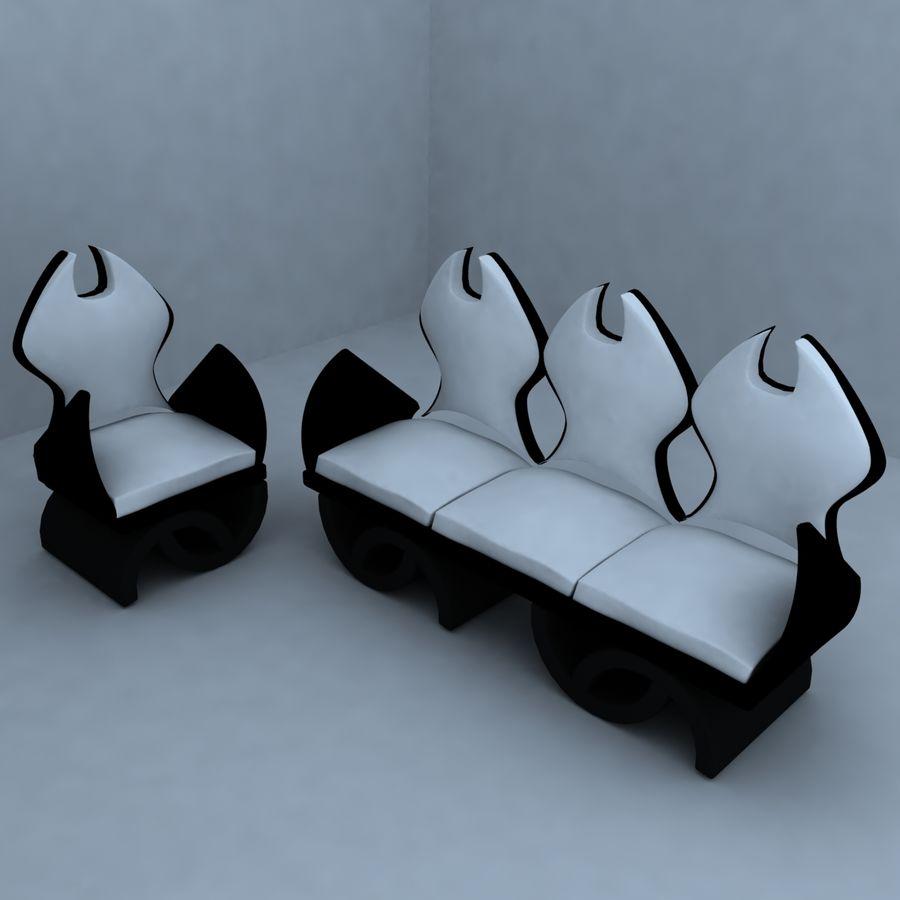 sillón 1 royalty-free modelo 3d - Preview no. 1