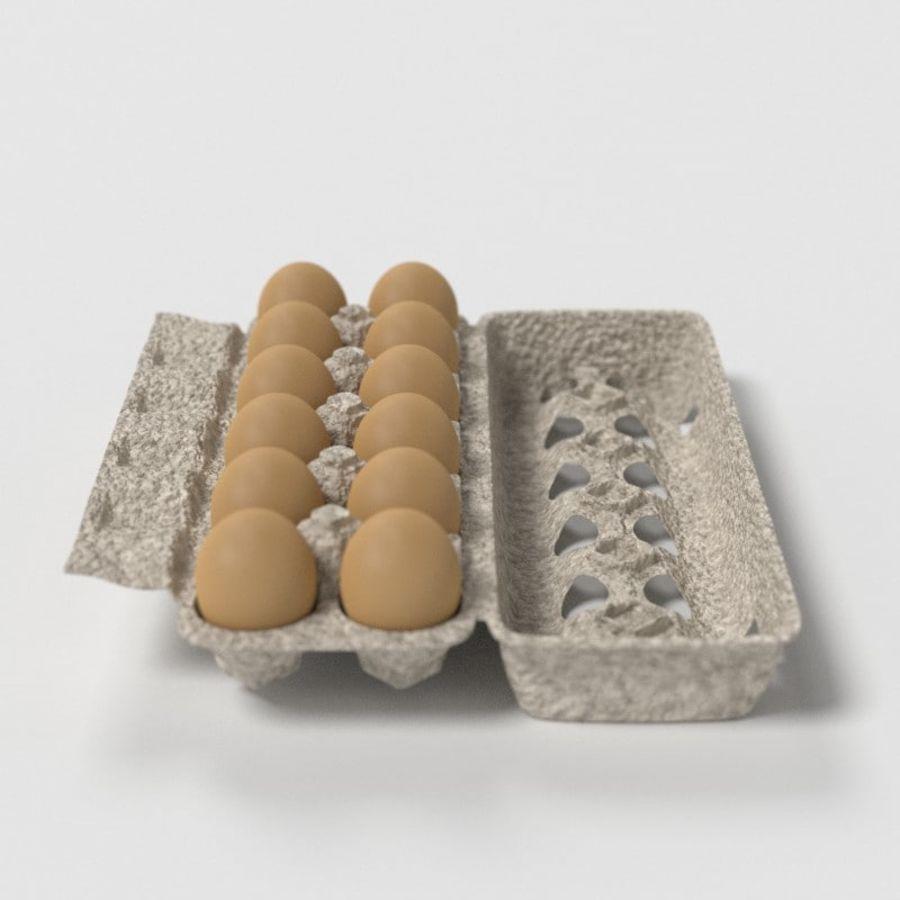 Food Egg Carton royalty-free 3d model - Preview no. 11