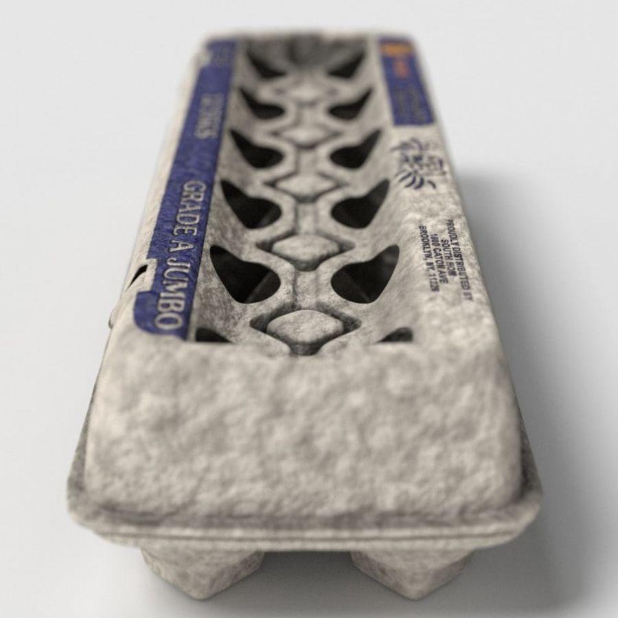 Karton Jajka Żywnościowego royalty-free 3d model - Preview no. 6