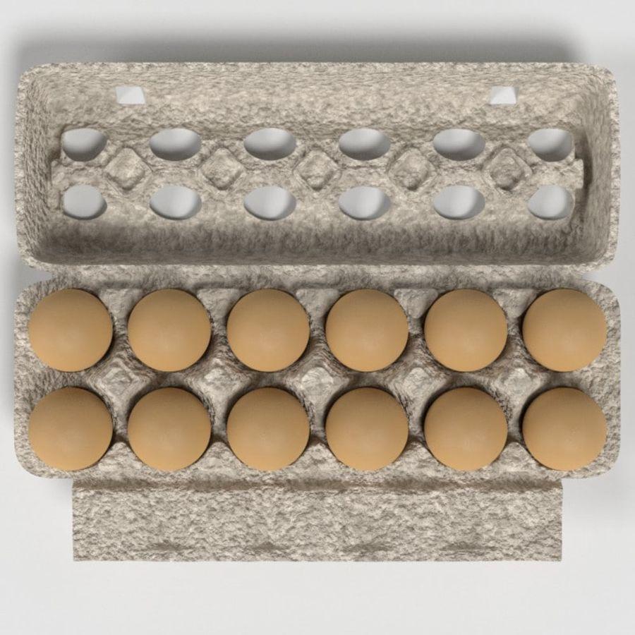 Karton Jajka Żywnościowego royalty-free 3d model - Preview no. 2