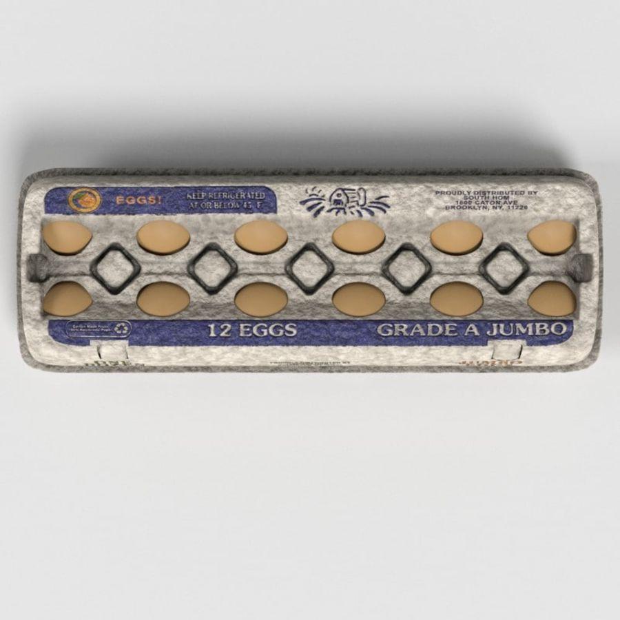 Food Egg Carton royalty-free 3d model - Preview no. 18