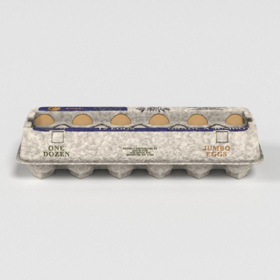 Karton Jajka Żywnościowego royalty-free 3d model - Preview no. 14