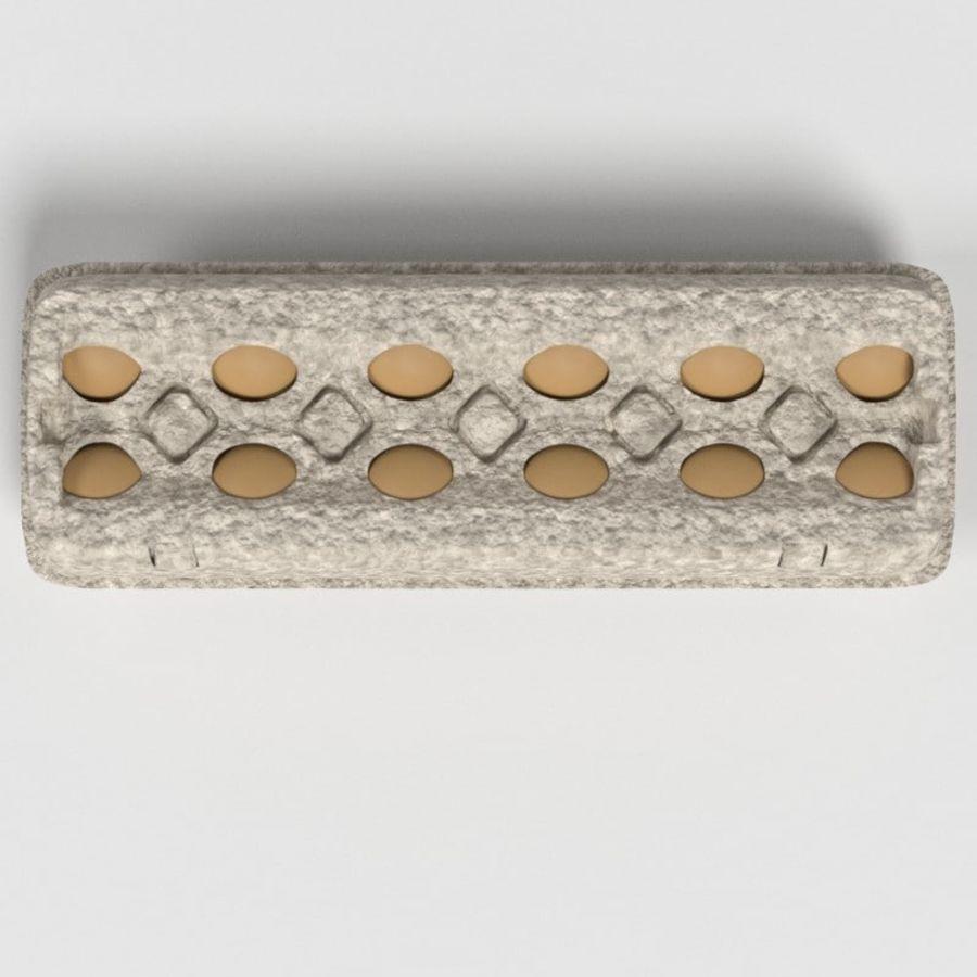 Karton Jajka Żywnościowego royalty-free 3d model - Preview no. 4