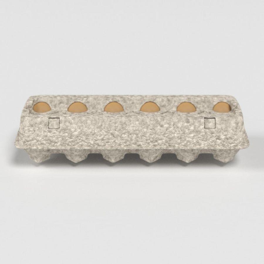 Karton Jajka Żywnościowego royalty-free 3d model - Preview no. 8