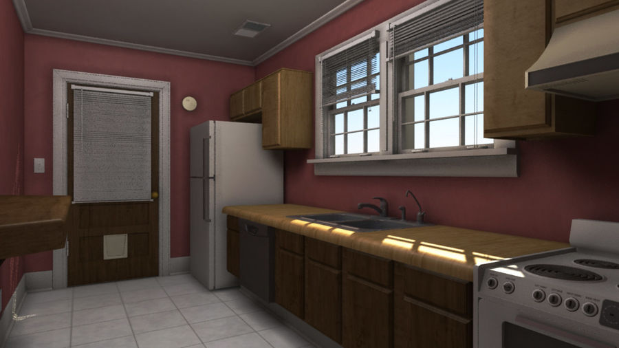 Wohnung Interieur royalty-free 3d model - Preview no. 2