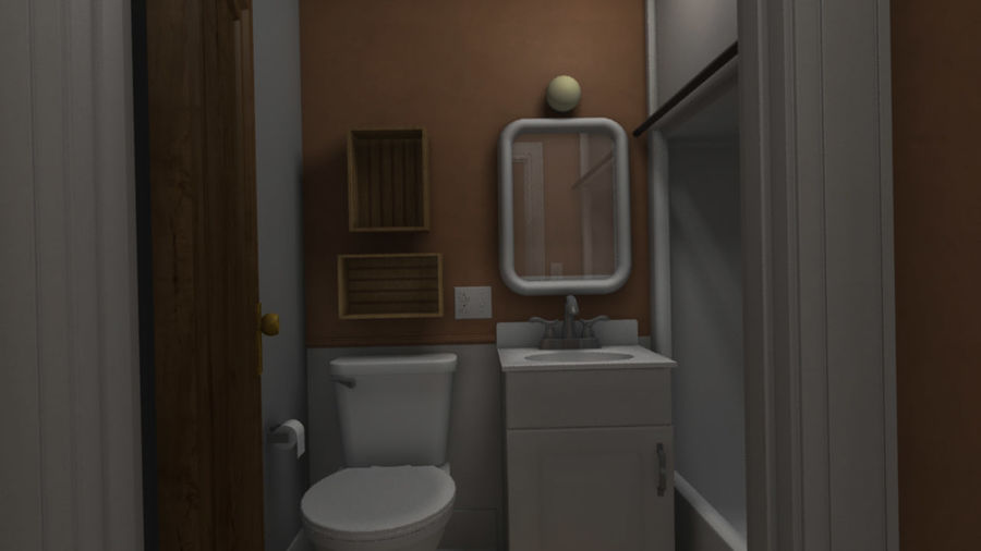 Wohnung Interieur royalty-free 3d model - Preview no. 5