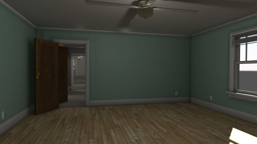Wohnung Interieur royalty-free 3d model - Preview no. 4
