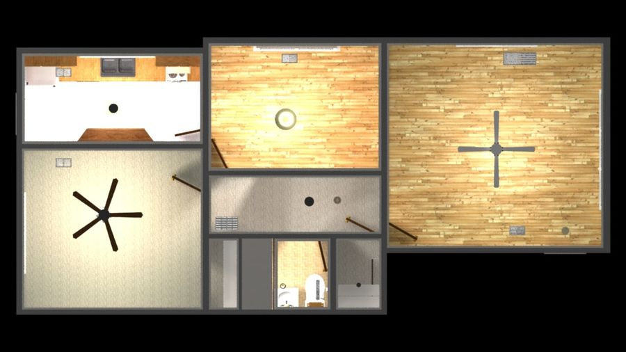 Wohnung Interieur royalty-free 3d model - Preview no. 6