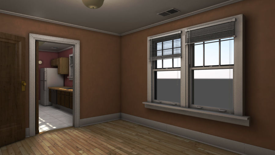 Wohnung Interieur royalty-free 3d model - Preview no. 1