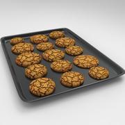 Biscuit et plateau 3d model