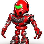 Mini Robot De Dibujos Animados modelo 3d