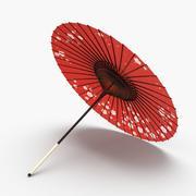 Japansk parasoll 3d model