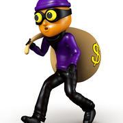 小偷卡通 3d model