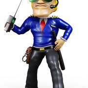 Cuerpo Guardia De Dibujos Animados modelo 3d