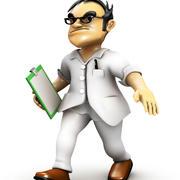 Bad Doctor Cartoon 3d model