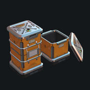 Sci fi Crate with lid 3d model