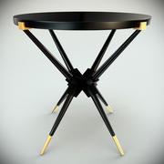 Svart sidobord av svart lack 3d model