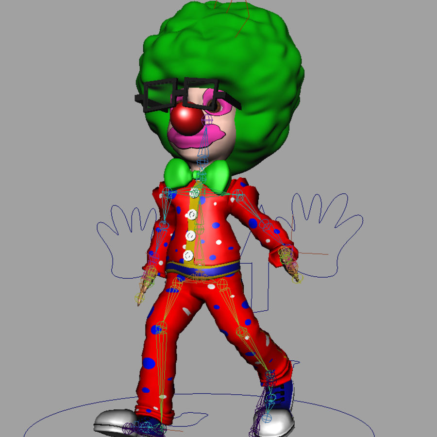 小丑卡通 royalty-free 3d model - Preview no. 2