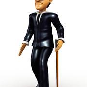 Rich Man Cartoon 3d model