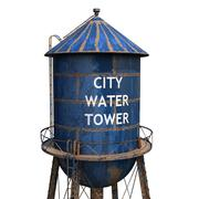 市給水塔 3d model