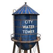 Stadt Wasserturm 3d model