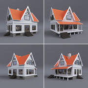 Family House With Terrace 3d model