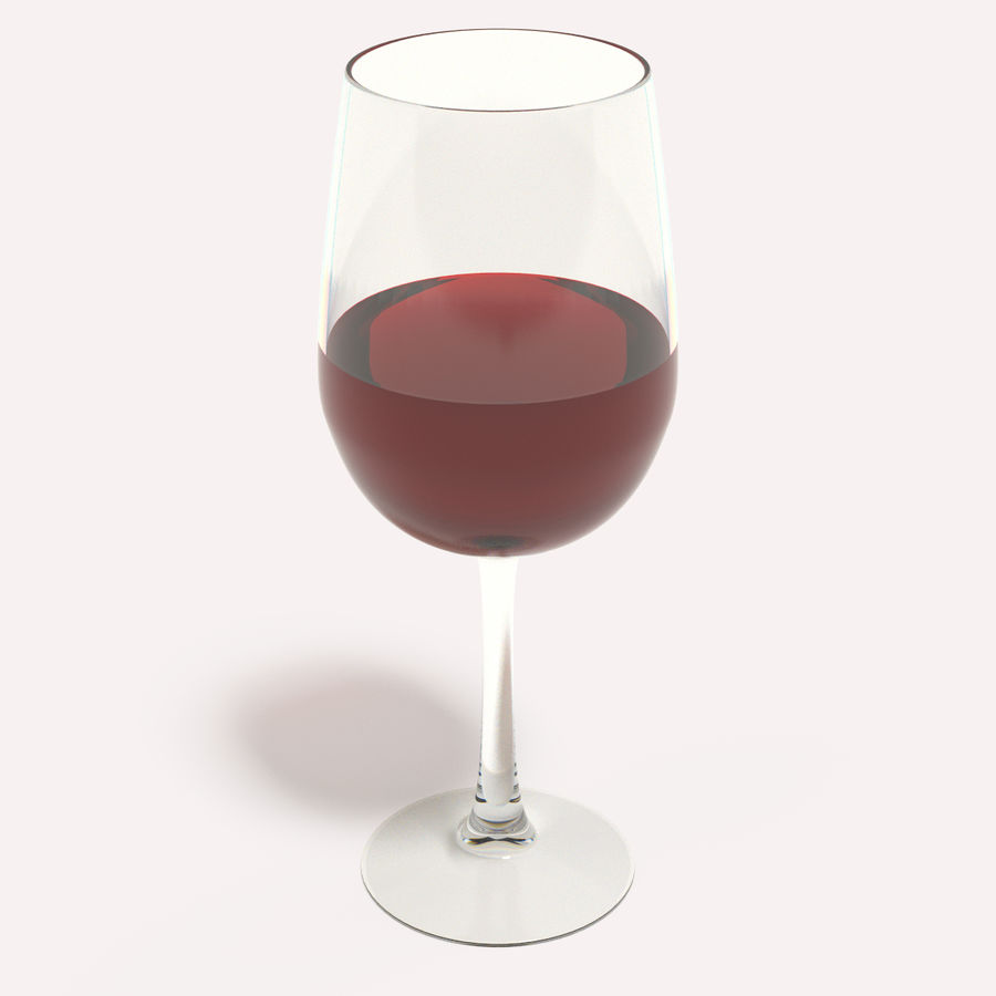 Glass of wine royalty-free 3d model - Preview no. 2