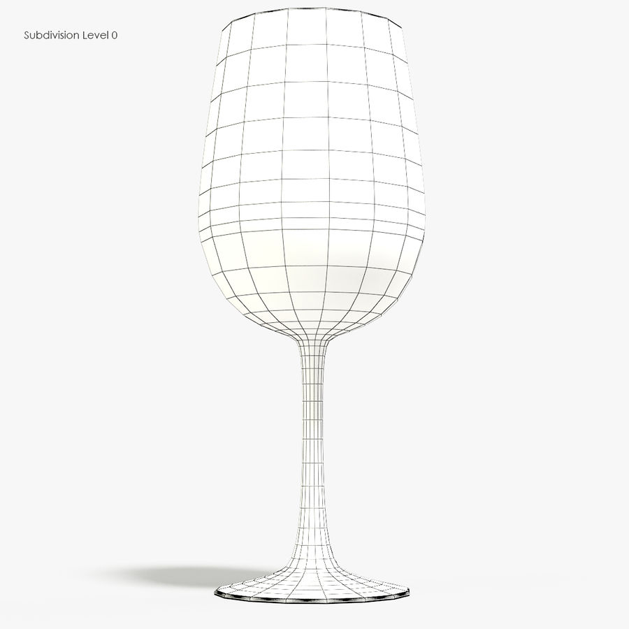 Glass of wine royalty-free 3d model - Preview no. 8