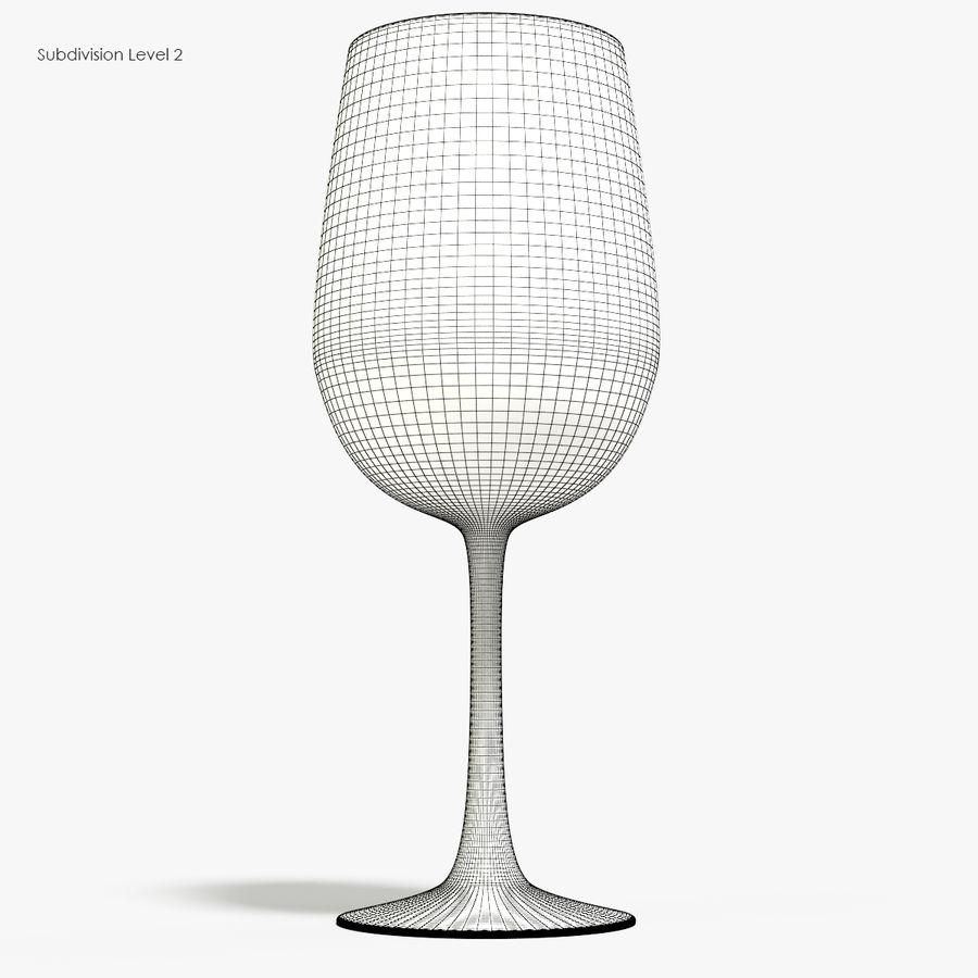 와인 한 잔 royalty-free 3d model - Preview no. 10