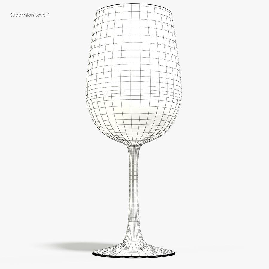 와인 한 잔 royalty-free 3d model - Preview no. 9