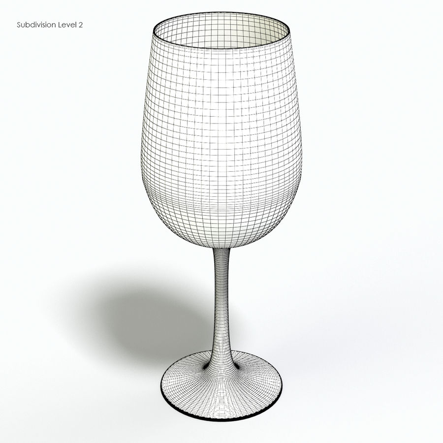 Glass of wine royalty-free 3d model - Preview no. 13