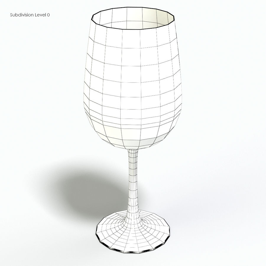 Glass of wine royalty-free 3d model - Preview no. 11
