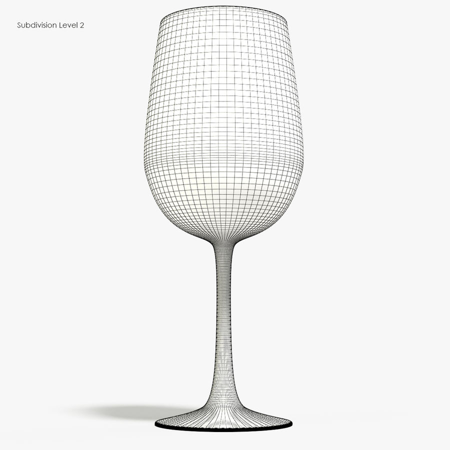Glass of wine royalty-free 3d model - Preview no. 10