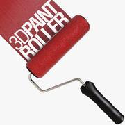 Paint Roller 3d model